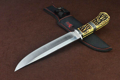 Sharp Full Tang Bowie Jungle Rescue Survival Combat Camping Hunting Knife