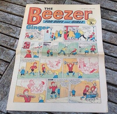 VINTAGE BEEZER COMIC 18th November 1972 Issue no 879