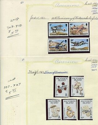 Weeda Ascension 309-312,323-327 VF MNH 1982-83 Wideawake Airfield/Flora CV $11+