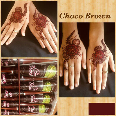 Instant Choco Brown Henna Mehandi Cone from Vimal Golecha Sehnaaz India