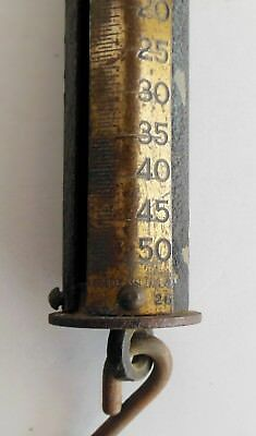 Antique Scale Cast Iron Brass Forschner 50 pounds Hanging Cylinder USA Made Barn