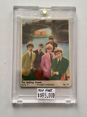 Rolling Stones Rare Card from Holland 1964