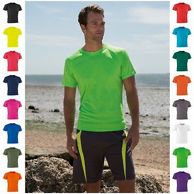 Mens Ladies Fitness Running Short Sleeve T Shirt Tee Top Gym Sports Breathable