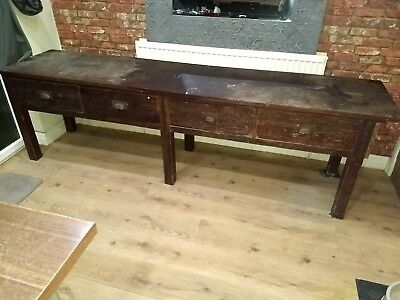 vintage pine school bench very long servants table