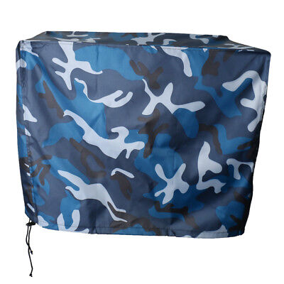 Waterproof Vented Outboard Motor Boat Cover Ocean Camo for 2 - 15 HP Engines