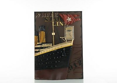"""Titanic Front Bow 3D Painting 28"""" X 20"""" X4.5"""" With Metal Parts"""