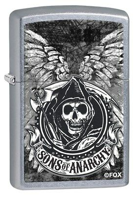 Zippo Lighter: Sons of Anarchy Wings - Street Chrome 79404