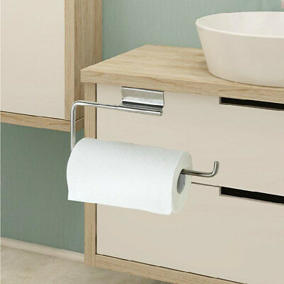 Stainless Steel Kitchen Roll Paper Towel Holder Racks Under Cabinet