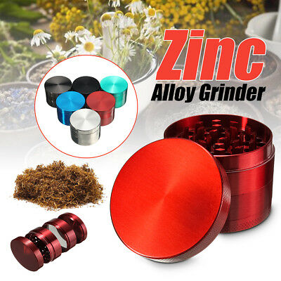 4 Piece 2 Inch Metal Grinder Crusher Spice Herb Herbal Cigarette Zinc Alloy US