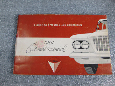 1961  Plymouth Valiant Owner's Manual  Second Edition in nice condition