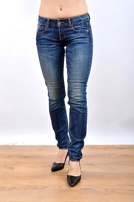Benetton Faded Flared Skinny Fit Jeans W26 L30 Stretch Fit Denim Nice wash LOOK!