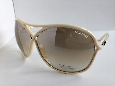 Tom Ford Vicky TF 184 TF184 25G 65mm White Oversized Women's Sunglasses T1