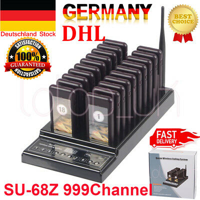 20 Restaurant Coaster Pager Guest Wireless Paging Queuing Calling System 999CHs