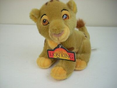 "NEW Young Simba Lion King Stuffed Plush Disney Store 8"" Baby Cub Soft Movie Toy"