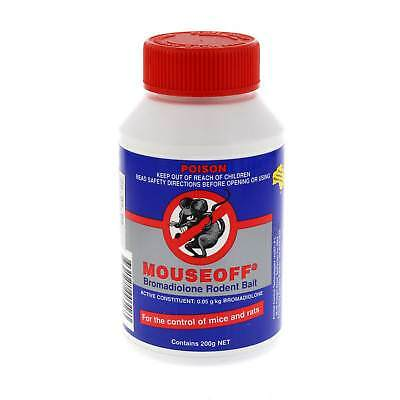 Mouseoff Bromadiolone Rodent Bait 200g Bromadiolone 0.05g/kg Kills Rats Mice