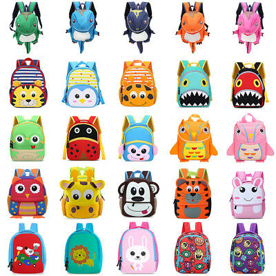 Cute Toddler Kid 3D Cartoon Animal Bag Baby Boy Girl Backpack Schoolbag Rucksack