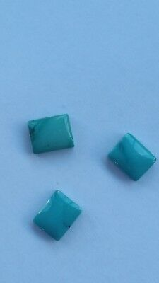 Natural TURQUOISE Rectangle Cabochon Gems 10 x 12 mm. Loose Gemstones 1 pc