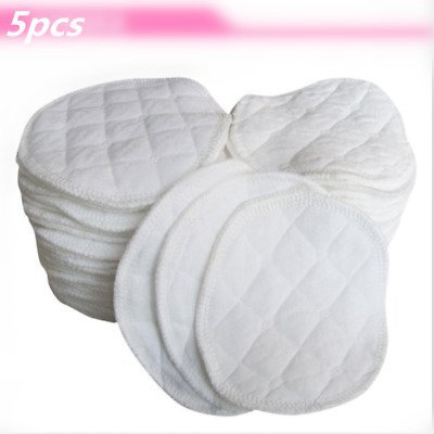 5* Breastfeeding Baby Ecological Cotton Washable Breast Pads Anti Eight Reusable