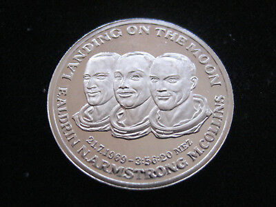 "Mds Feinsilber Medaille ""aldrin - Armstrong - Collins 21.7.1969""    #32"