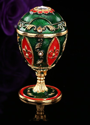 New arrive beautiful green Faberge egg for decoration wedding