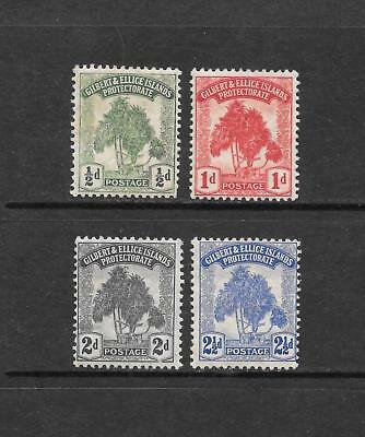 1911 King George V SG8 to SG11 inc Set of 4 Mint Hinged GILBERT & ELLICE ISLANDS