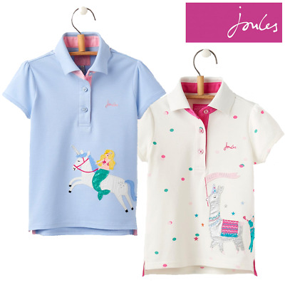 cc46af08 Joules Young Moxie Girls Applique Polo Shirt (Y) **FREE UK Shipping*