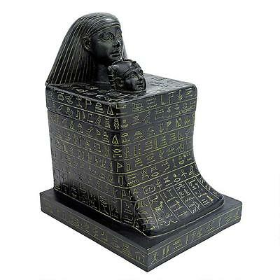 New Kingdom Ancient Egyptian Funerary Monument Temple Block Prayer Statue Box