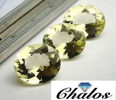 1x Citrin Lemon - Oval facettiert 14x12mm (Box-1286A)