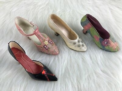 Mini Collectible Shoes JUST THE RIGHT SHOE Lot of 4 Single Shoes