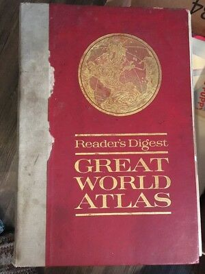 1963 1st edition readers digest Great World Atlas