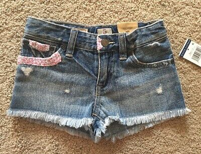 Girl's Size 5 Ralph Lauren Polo Ripped Distressed Frayed Denim Jean Shorts