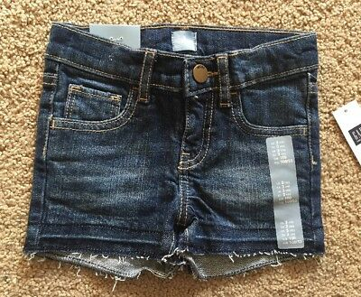 Toddler Girl Size 3 3T Baby Gap Distressed Raw Hem Denim Jean Shorts