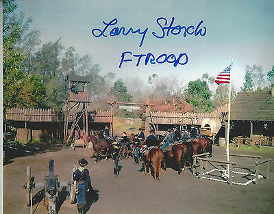 F Troop Agarn Larry Storch  autographed 8x10  unique fort  photo F Troop added**