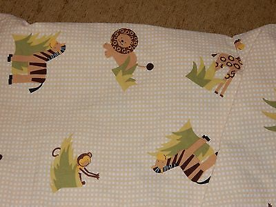 LAMBS & IVY Safari Jungle Zoo Fitted Crib/Toddler Bed Sheet lion zebra monkey