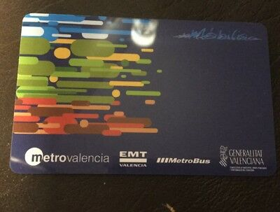 VALENCIA Metro T2 Travel Card.  2 Days Unlimited Travel. 4 Available