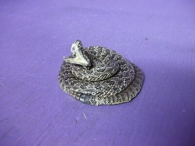 Real Western rattlesnake mount stuffed tanned skin hide taxidermy snake man cave