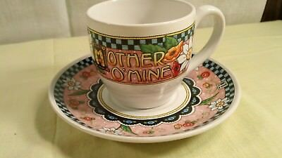 Mary Engelbreit Tea Coffee Cup and Saucer Mother O'Mine
