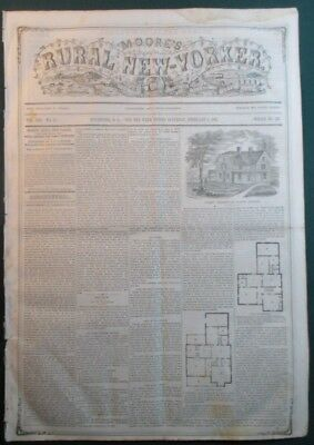 Feb 1 1862 Rural New Yorker Civil War & Agriculture News Gen Zollicoffer Death
