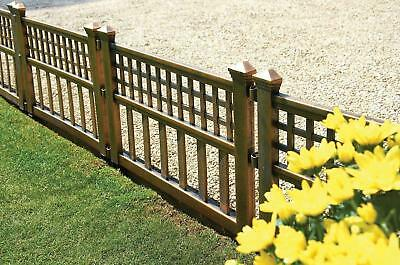 Plastic Garden Gate Fence Panels Pack Of Four In Bronze Fences Grass Border