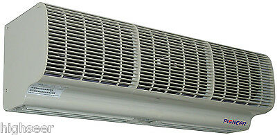 High Velocity Commercial Air Curtain, 5 Foot Width. Wireless Remote, Door Switch
