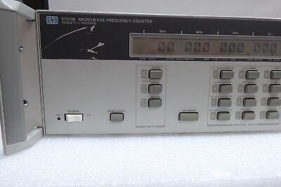 Hp 5350b Microwave Frequency Counter Opt 001 002 Oven Time Base