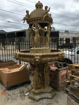 Magnificient French Antique architectural Bronze fountain