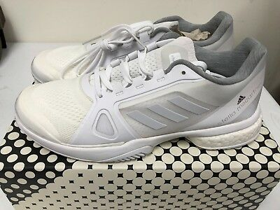 super popular 17bf3 f0977 Adidas Women Tennis Stella McCartney Barricade Boost Shoes White BY1621 SZ  US10