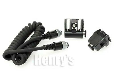 Pentax Off Camera Ttl Flash Kit With Adapters And Cable/open Box