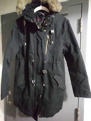 H&M Mama Maternity Winter Jacket Parka in Black size Medium