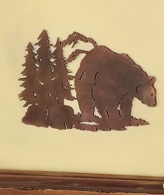 Bear Die-Cut Wildlife Wall Art Sculpture Lodge Log Cabin Rustic Home Decor