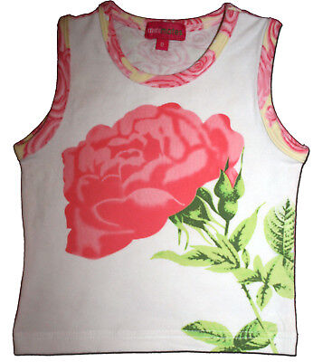 AS NEW Gorgeous MINI MATES Size 0 ROSE Print Singlet TOP
