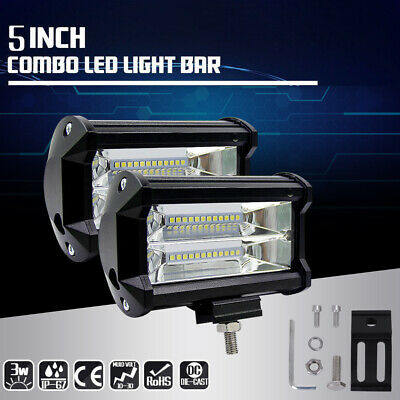 2X 72W Cree LED Light Work Bar Lamp Driving Fog Offroad SUV 4WD Car Boat Truck c