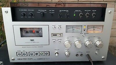 Vintage AKAI GXC-570D Stereo Cassette Deck Tape Player Recorder Exct