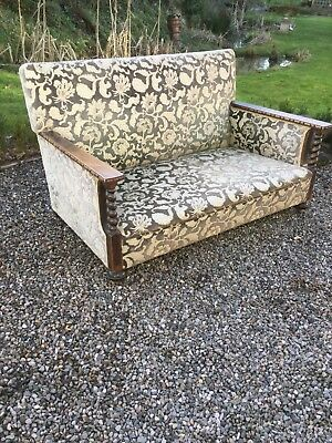 Antique Oak Barley Twist Sofa
